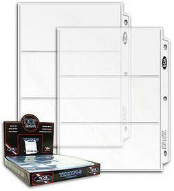 3 Pocket Coupon Storage Organizer Binder Sheets Pages