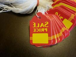 100 Sale Price Red Yellow Tags With String Merchandise Garme