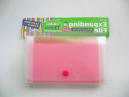 13 Pockets with 4 Colors Divider Expandable File Coupon Hold