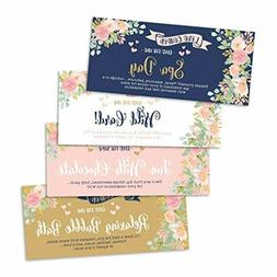 15 Floral IOU Love Voucher Coupons For Him or Her, Husband W