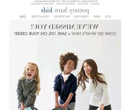 Pottery Barn Kids 15% Off Coupon Entire Purchase Online ONLY