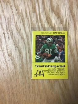 1975 McDonald's Al Woodall New York Jets Card & Coupon