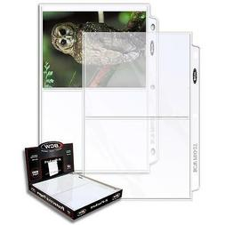 2 Boxes 200 BCW 2 Pocket Postcard Photo Coupon Storage Pages