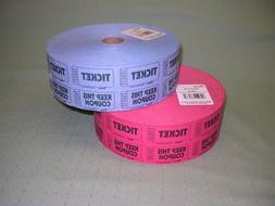 """2 Rolls Raffle Tickets - 2 part """"Keep This Coupon"""" style, 1"""