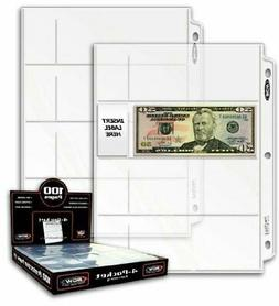20 4-Pocket Coin Currency Storage Protector Album Binder Pla