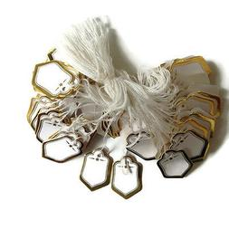 200 Gold w/string Price Coupon Tag hang label Cloth jewelry