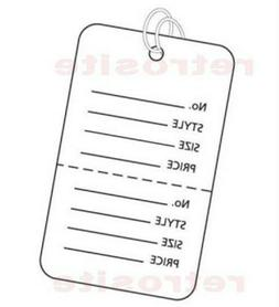 200 Large Coupon Price Tags with Strings WHITE 2 part Perfor