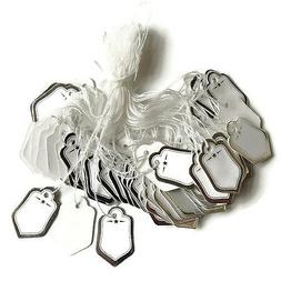 200 Silver w/string Price Coupon Tag hang label Cloth jewelr