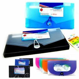 2Pc Expanding Document File Accordion Organizer 13 Pocket Sc