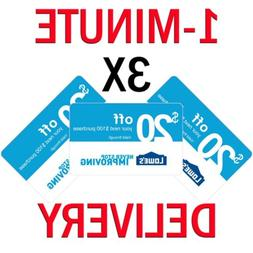 𝟑× Lowes $20 OFF $100Coupon Expires 𝟔/𝟏𝟐 In-Sto