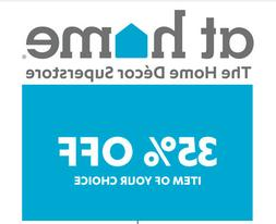 at Home Coupon Code 35% One item of ur Choice - Ex 06/15/202