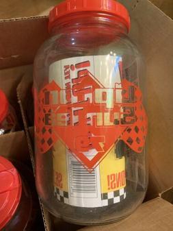 4 - New Vintage Lipton Sun Tea 79 Race Promotional Jars - Or