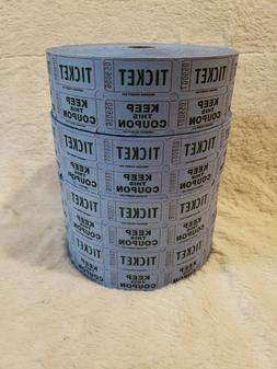 4 ROLLS BLUE TICKET KEEP THIS COUPON RAFFLE 3 NEW ROLLS 2000