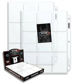 10 sheets 9 Pocket Pages for Binders baseball Ultra Storage