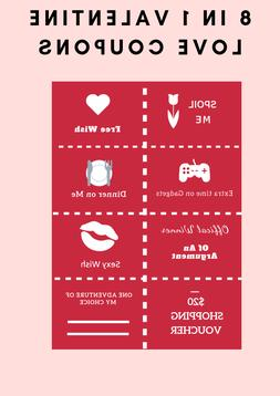 Valentine Love Gift Voucher & Love Coupons for Him & Her 8 c
