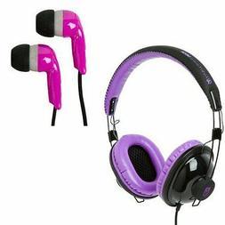 Siege Audio Audit Voucher and Tally 2 Pack Headphones - Plum