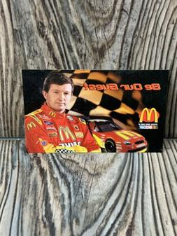 """Bill Elliott McDonald's Coupon """"Be Our Guest"""" 1998 - F"""