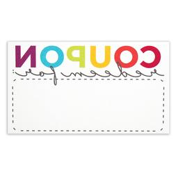 Blank Coupon Cards - 50 Pack - Redeem for DIY Coupons for Gi