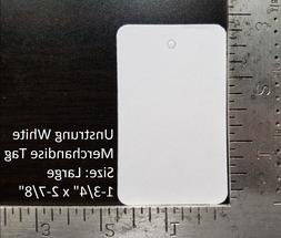 Blank White Garment Tags Unstrung Merchandise Price Jewelry
