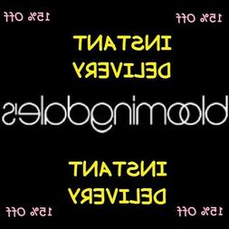 Bloomingdale's Coupon 15% Off Exp. 12/31/2020 *INSTANT DELIV