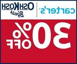 CARTER'S / OSHKOSH 30% off coupon code