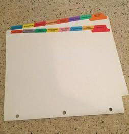 Coupon binder 16 tab dividers grocery categories custom New