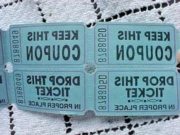 Double Raffle Tickets Blue Lot of 100 Keep This Coupon Drop