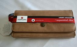 Mundi File Master Safekeeper Wallet Clutch Brown RFID Travel