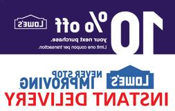 ] 1× One Lowes 10% OFF FASTEST DELIVERY DISCOUNT-1COUPON IN