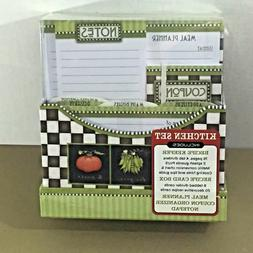 New Seasons Kitchen Set Recipe Keeper Meal Planner Card Box
