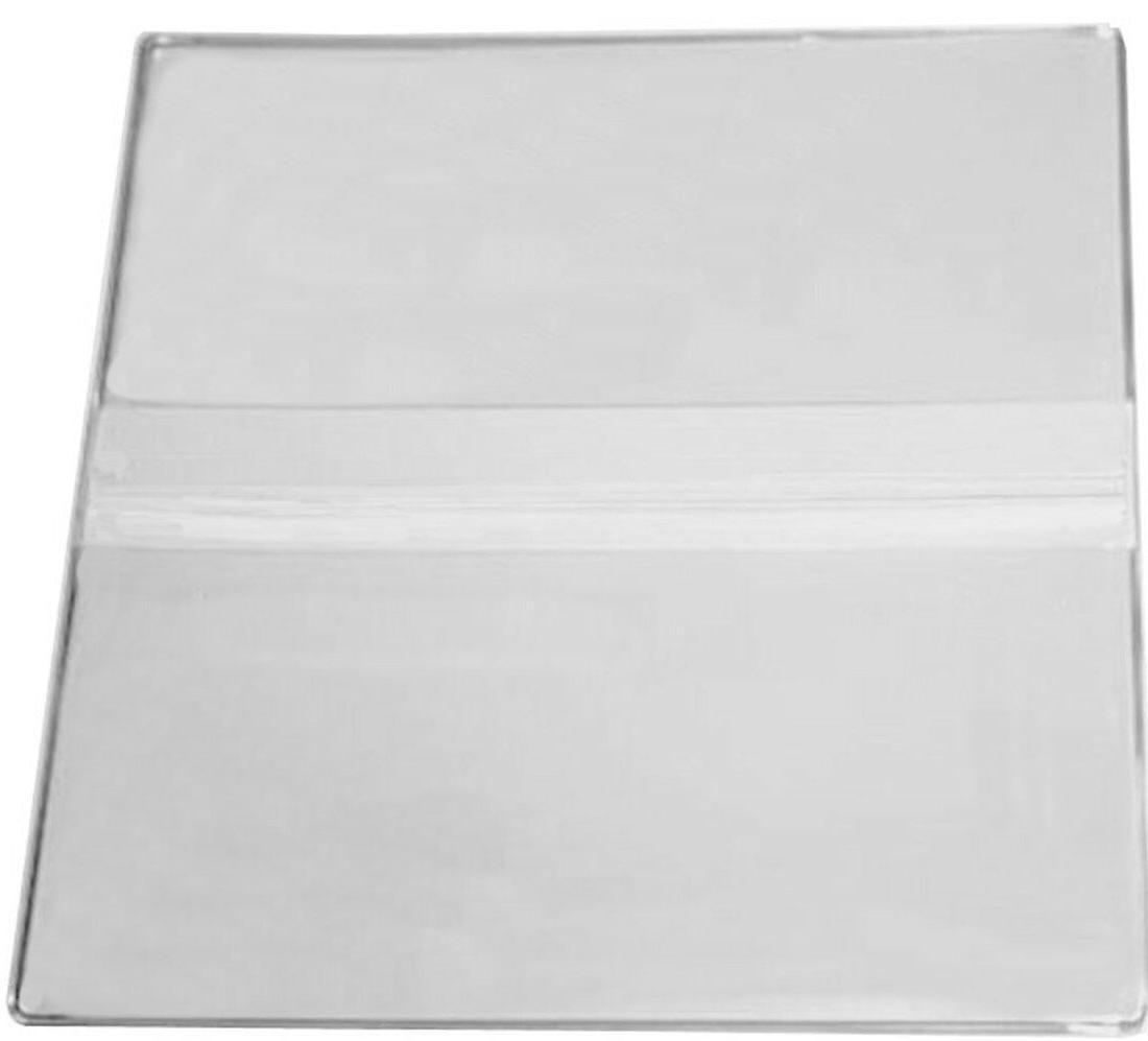 10 new clear vinyl 2 pocket booklet