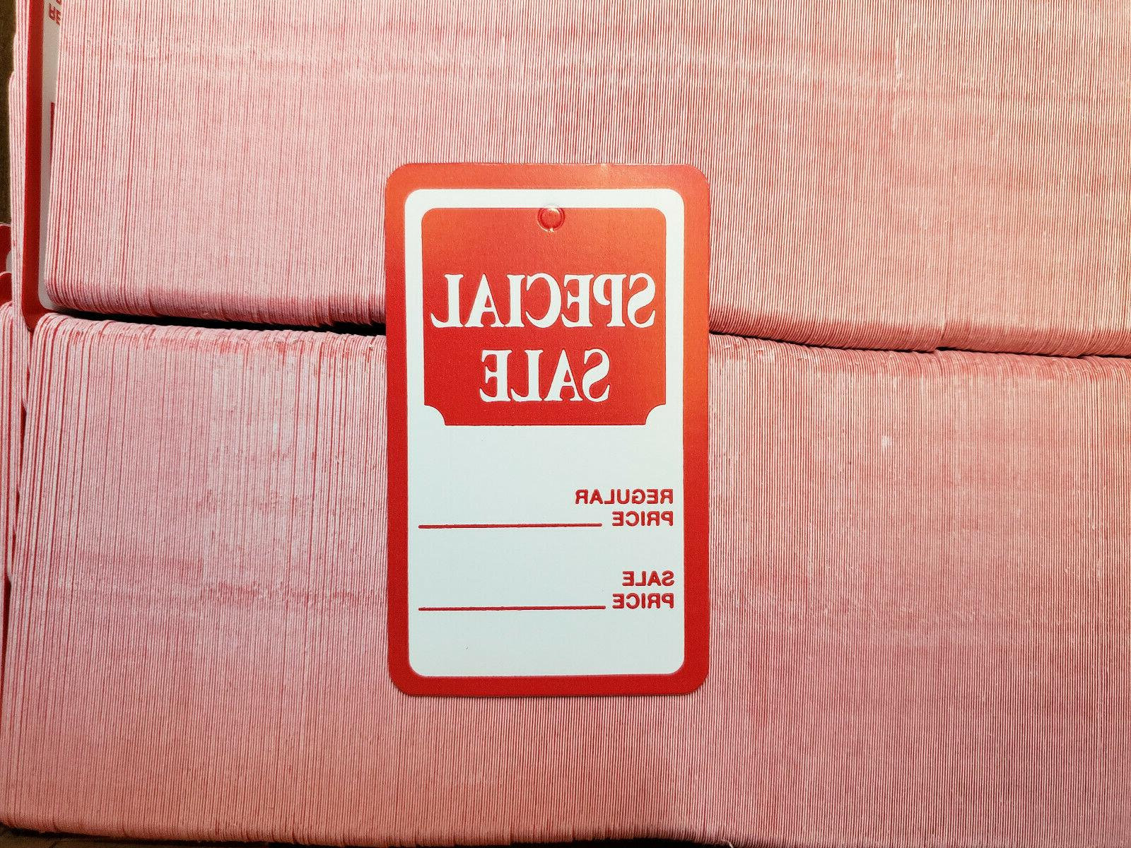 100 Red White Special Sale Coupon Merchandise Price Tags Lar