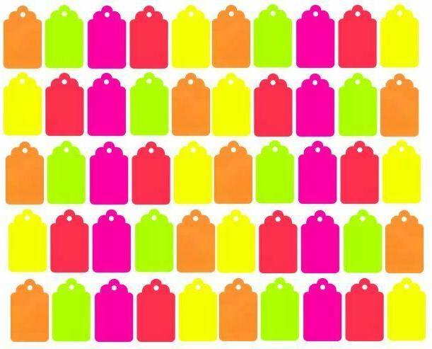 150 blank merchandise price tags retail string