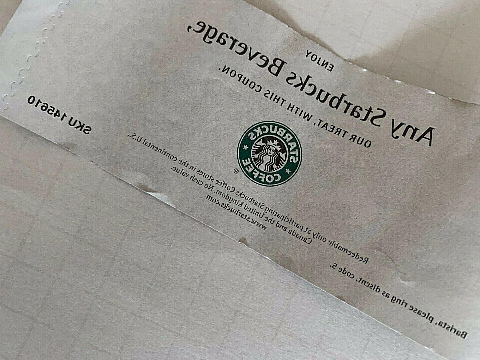 2000 Starbucks Tumbler Coupon
