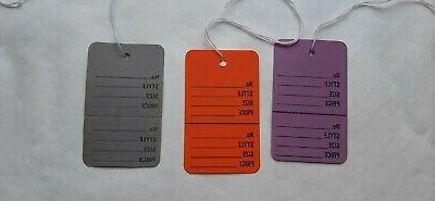 225 large coupon price tags with string