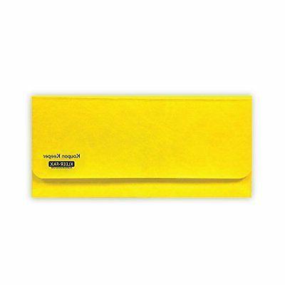 """Kleer-fax Koupon Keeper, Lemon Yellow, 8.5"""" x 4"""" Coupon Orga"""
