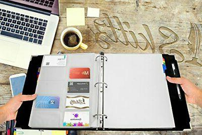Skittz Card Book Coupon Leather W/Sleeves