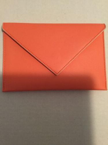 coral envelope coupon holder purse organizer