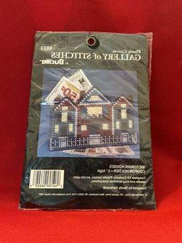 coupon holder plastic canvas cross stitch kit
