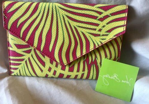 envelope wallet palm fronds organizer coupons receipts