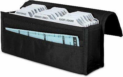 expandable coupon organizer w divider cards