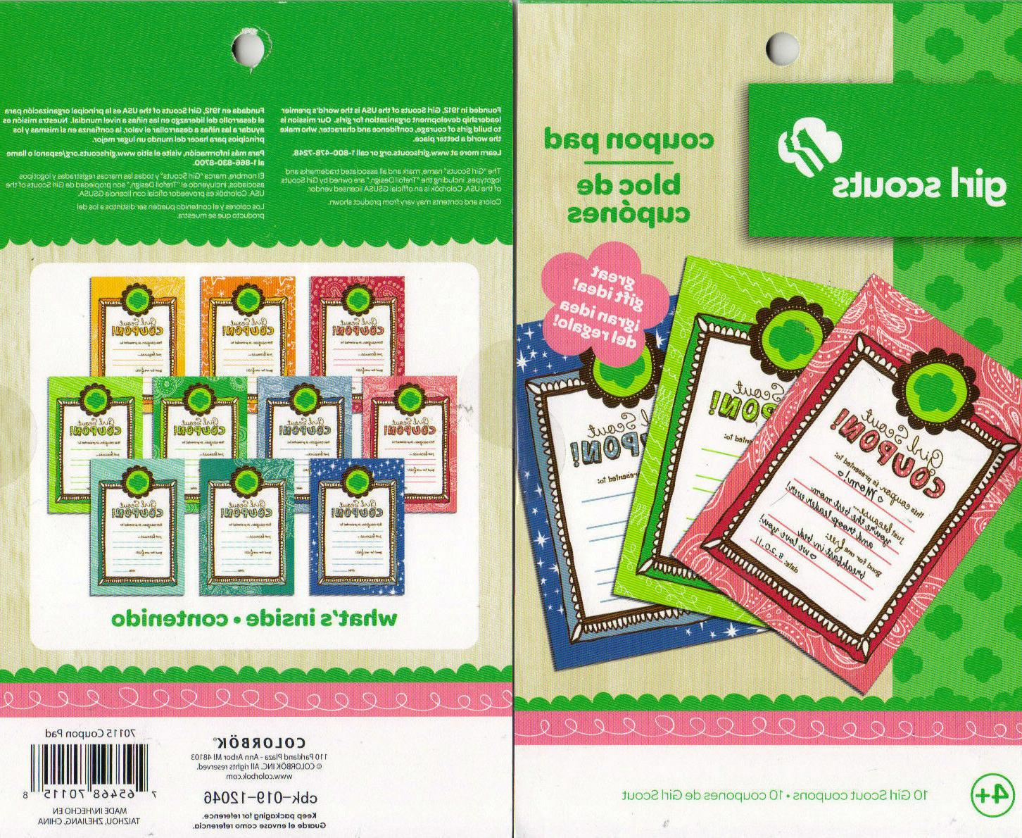 girl scouts coupon pad reward book 10