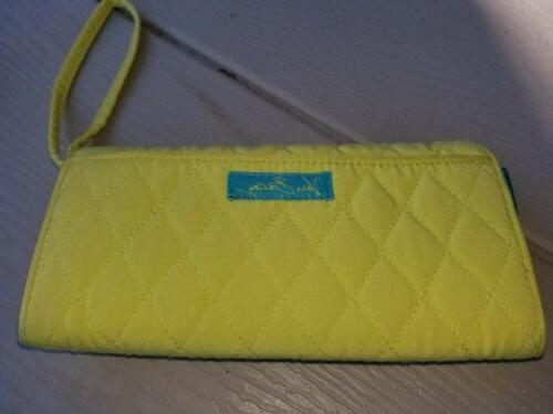 green and teal wristlet and coupon holder