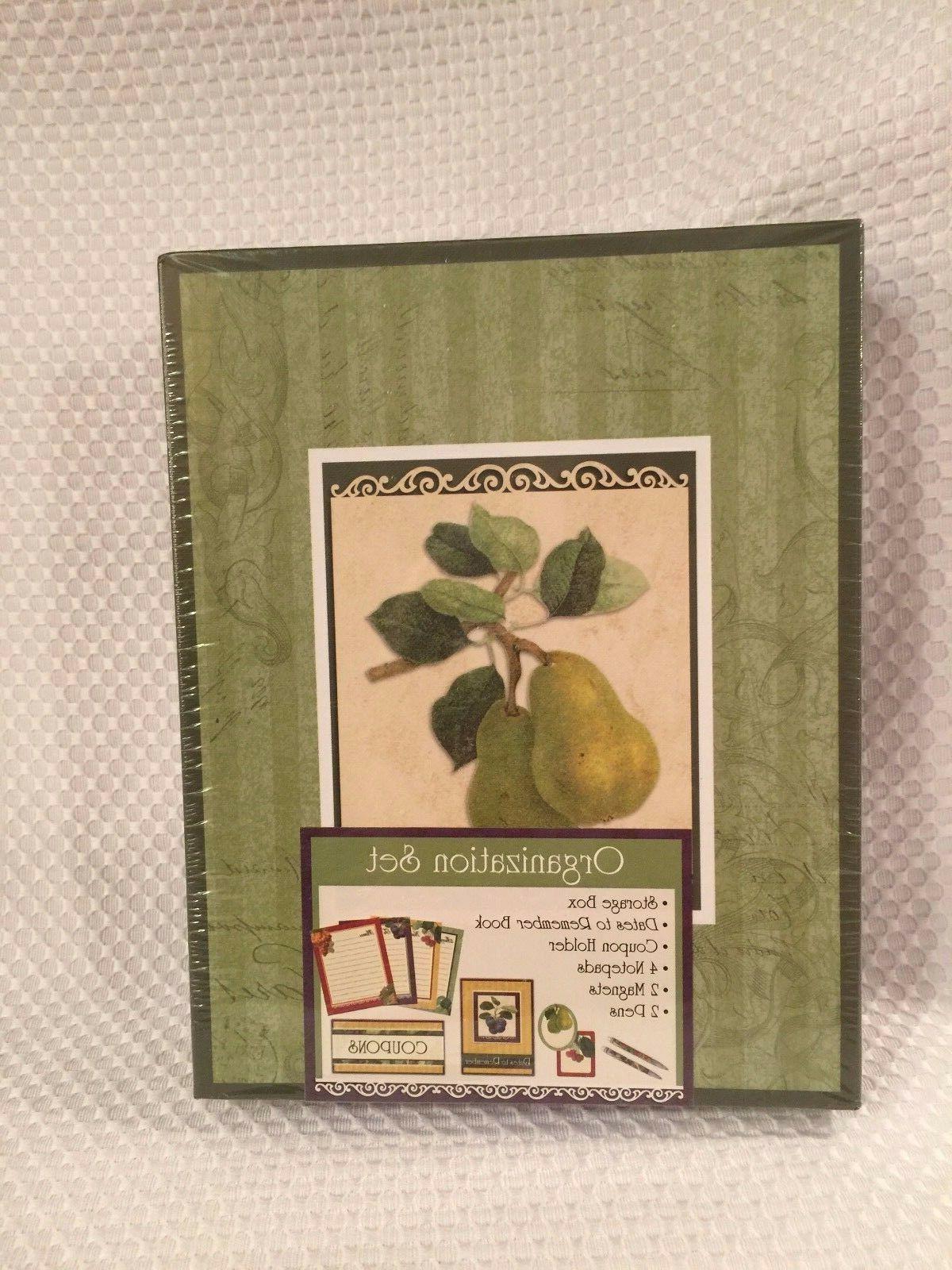 kitchen organizer set pear design coupon holder