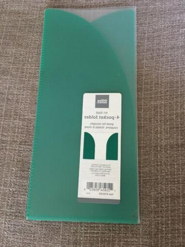 new tri fold 4 pocket folder