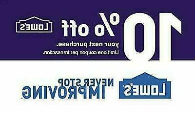 one 1x 10 percent off 1coupon lowe