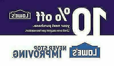 one 1x 10 percent off 1coupons lowe