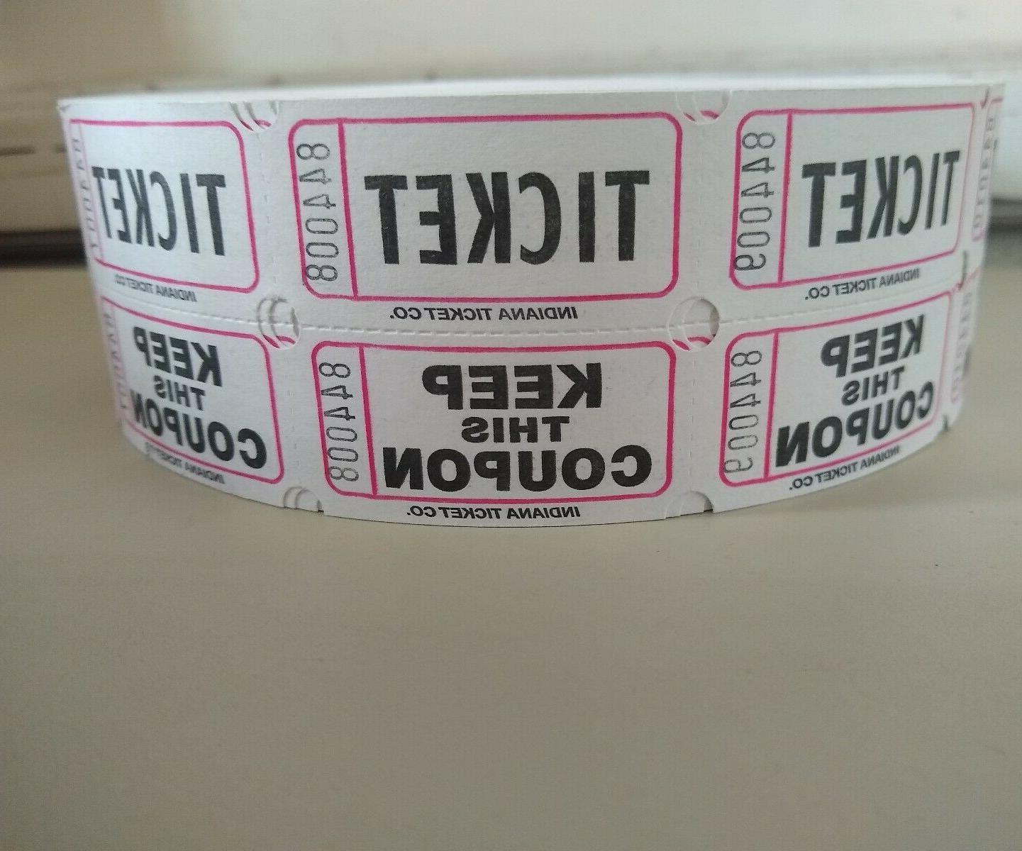 Raffle Tickets 2000 Roll Double