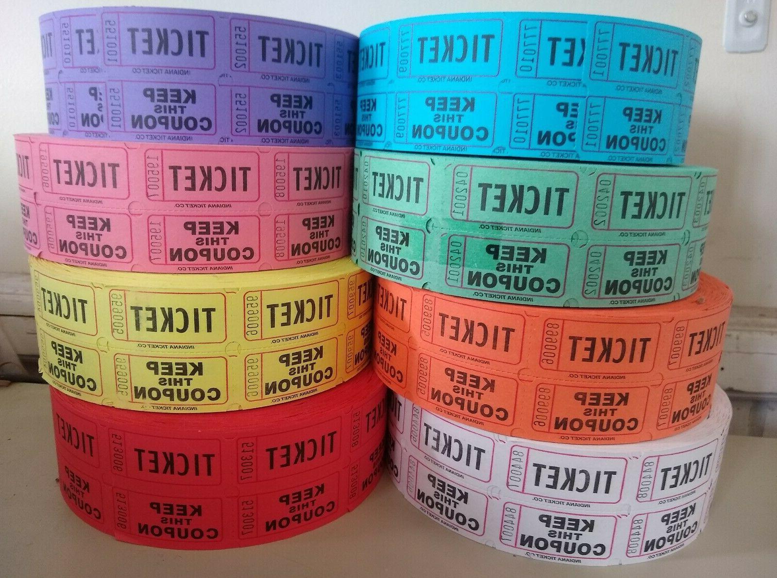 raffle tickets 2000 roll double stub 50