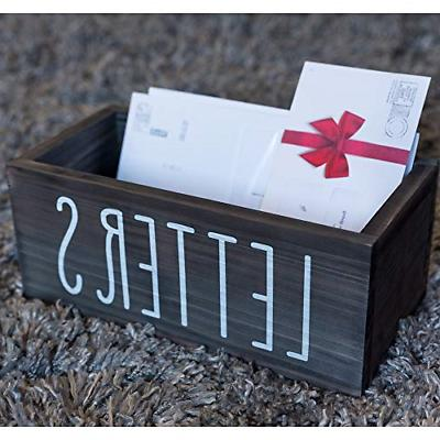 Rustic Mail Letter Box Bill Coupon Desk Decor | Mail
